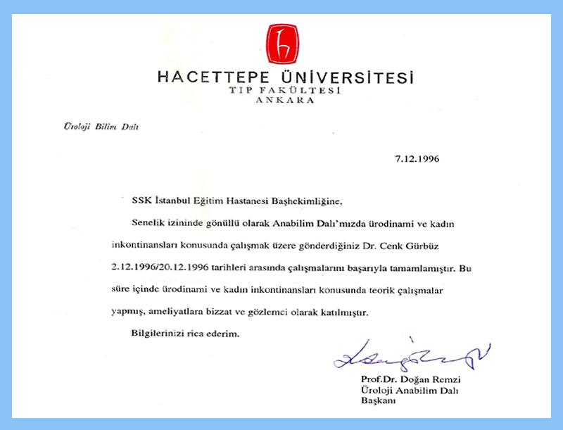 Hacettepe Üniversitesi - Uroloji Doktoru Cenk Gürbüz
